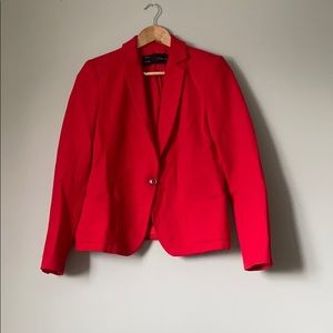 Zara Jackets & Coats - Zara bright red woven blazer
